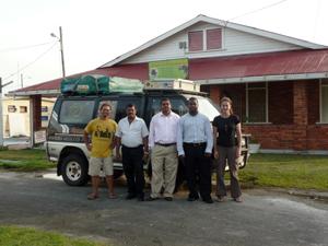 Con la dirección del Guyana Tourism Authority