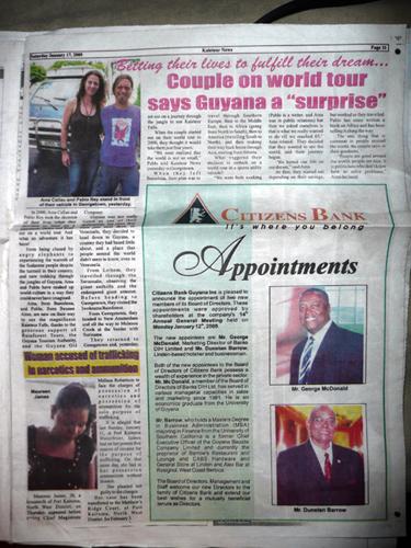 Kaieteur News, Guyana, 17 de enero de 2009