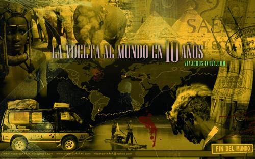 Cartel La Vuelta al Mundo en 10 Años, tierra
