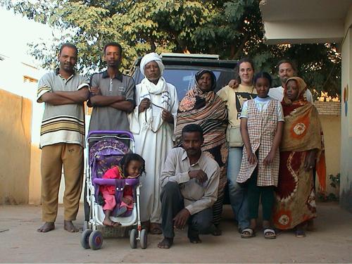 Retrato de la familia de Mutaz, Omdurman, Sudan