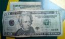 Billete falso de 20 dólares