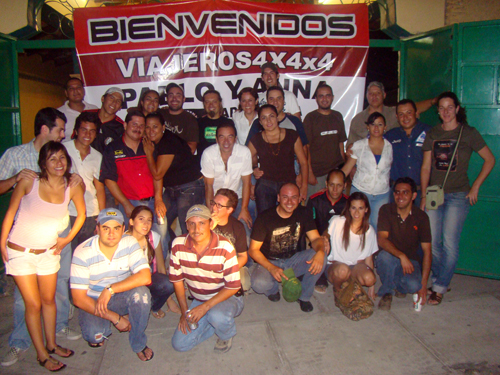 Tremenda bienvenida nos dieron los jeeperos de Guadalajara