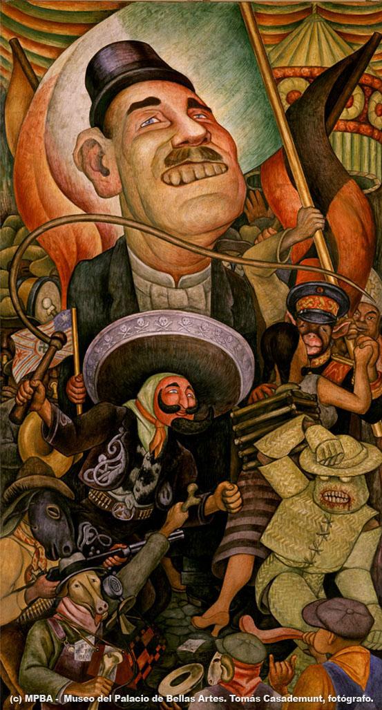Carnaval de la vida mexicana. La dictadura