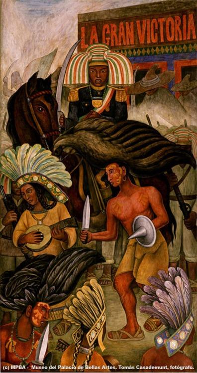 Carnaval de la vida mexicana: danza de los huichilobos. Murales de ...