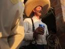 Retrato de sombrero mexicano